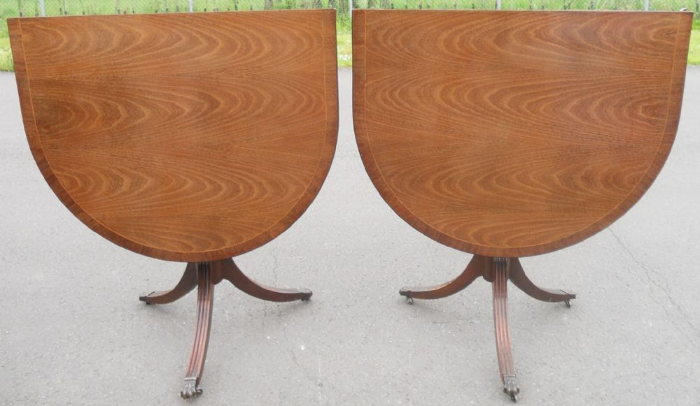 Small Mahogany Pedestal Dining Table to Seat Six